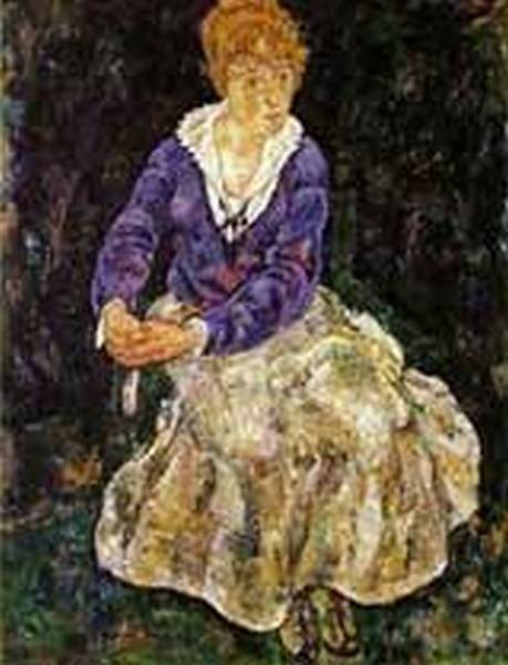 Portrait of the Artist Wife Seated 1918
